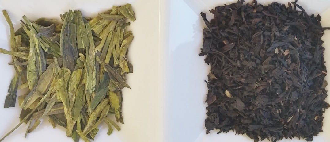 green and black tea leaves- what is the difference in green vs black tea?