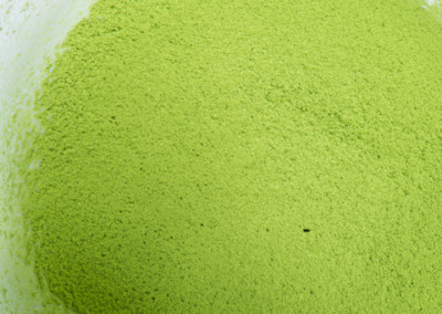 sifted matcha green tea powder with no clumps visible- only fine powder