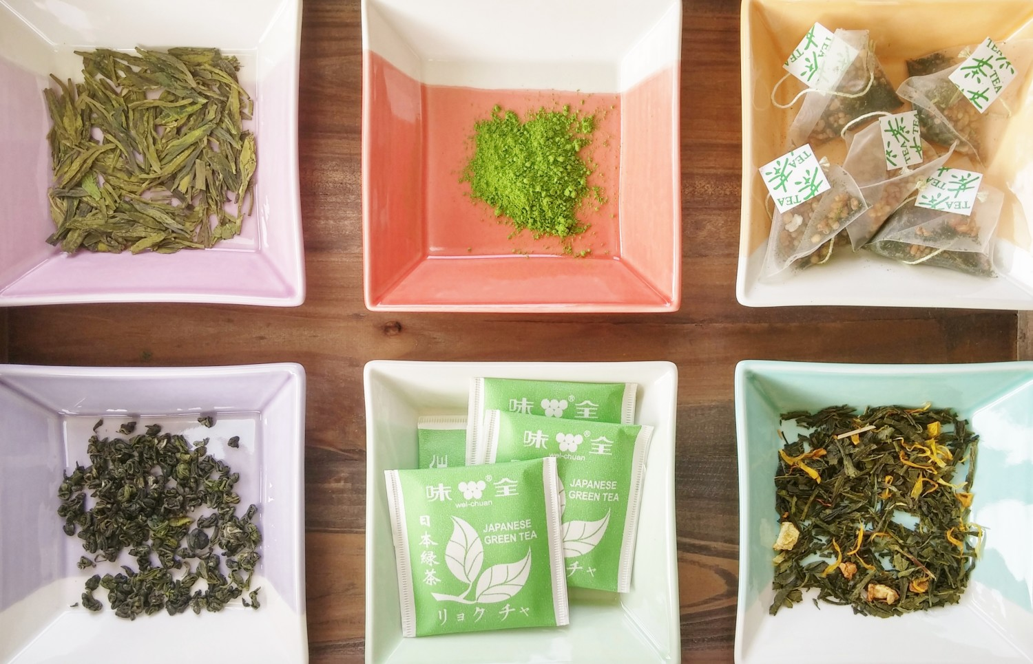 various forms of green tea