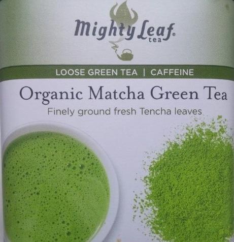 organic matcha green tea label